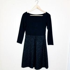 Theory Jacquard Tweed Classy Career Wool Dress